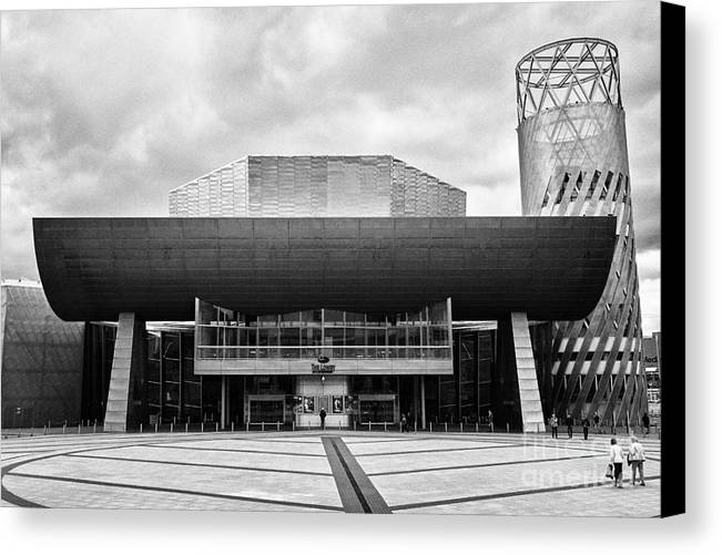 Lowry Canvas Print featuring the photograph The Lowry Art And Entertainment Complex Salford Quays Manchester Uk by Joe Fox