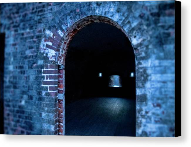 Fort Macon Canvas Print featuring the photograph Through The Doorway by Jacob Rose