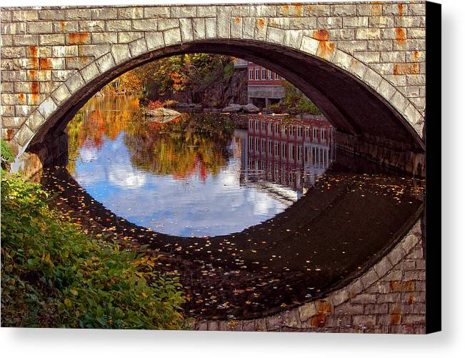 River Canvas Print featuring the photograph Through The Looking Glass by Joann Vitali