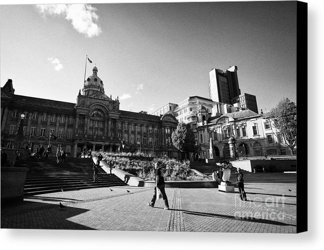 Victoria Canvas Print featuring the photograph victoria square Birmingham UK by Joe Fox