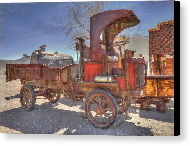 Packard Canvas Print featuring the photograph Vintage Packard Truck by Donna Kennedy