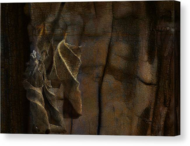Leaf Canvas Print featuring the digital art Autumn Leaves by  DonaRose