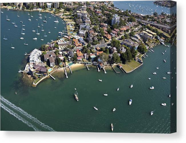 Australia Canvas Print featuring the photograph Drummoyne Bay, Sydney by Brett Price