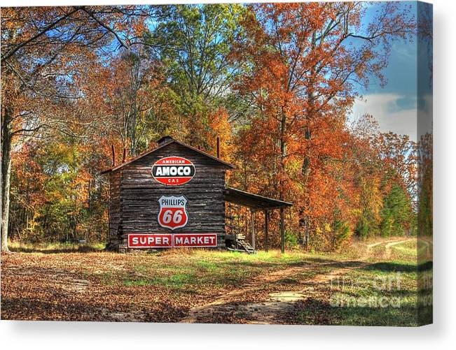 4 Burner Barn In Fall Canvas Print