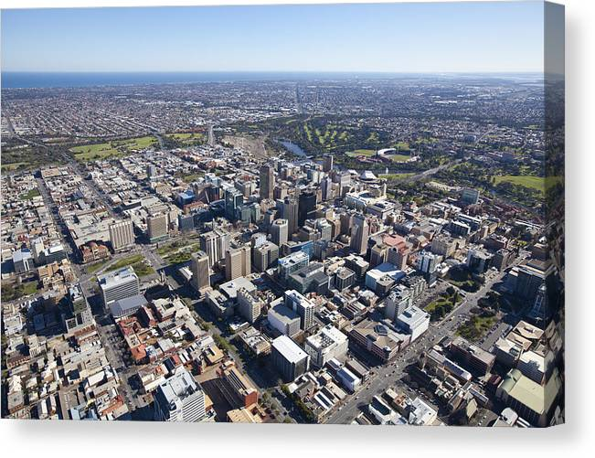 Australia Canvas Print featuring the photograph City Center, Adelaide by Brett Price