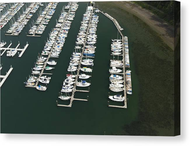 America Canvas Print featuring the photograph Boats And Docks At Cap Sante Marina by Andrew Buchanan/SLP