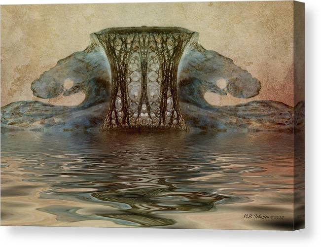 Abstract Canvas Print featuring the photograph Catacombs by WB Johnston