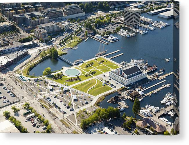 America Canvas Print featuring the photograph Lake Union Park And Museum Of History by Andrew Buchanan/SLP