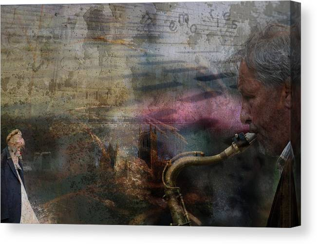 Saxaphone Canvas Print featuring the photograph Memories by John Turnbull