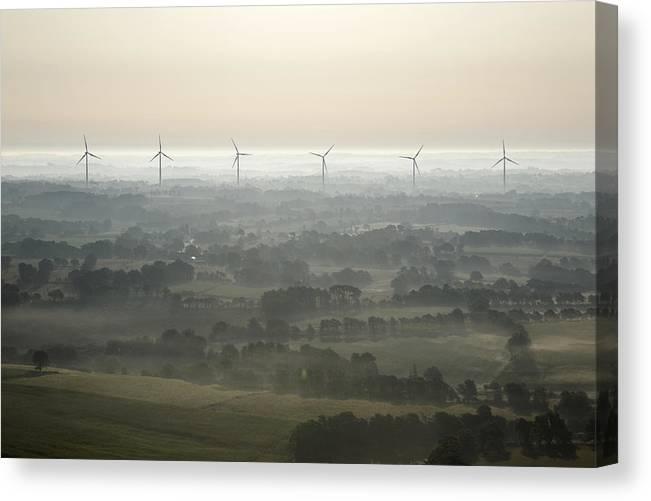 Bretagne Canvas Print featuring the photograph Morning Mist, Sarzeau by Laurent Salomon