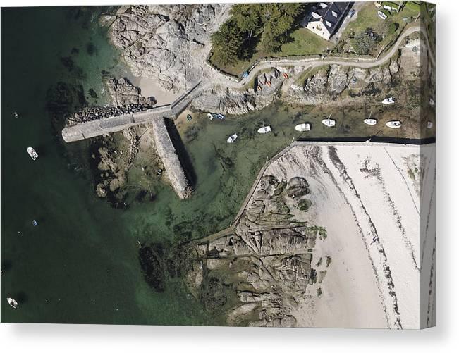 Europe Canvas Print featuring the photograph Natural Harbor By Lerat, Piriac Sur Mer by Laurent Salomon