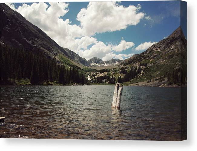 Colorado Mountains Canvas Print featuring the photograph Peaceful And Still by Mandy Henry