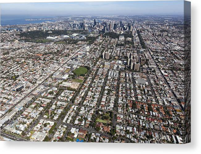 Abbotsford Canvas Print featuring the photograph Richmond With The Cbd In The by Brett Price