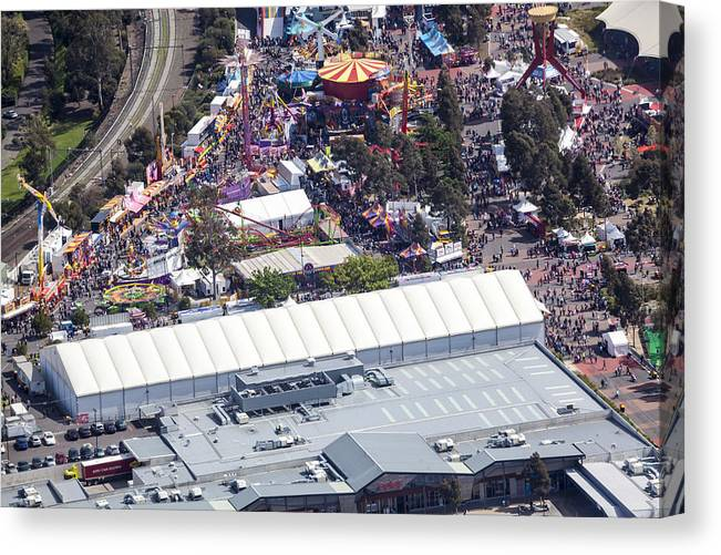 Australia Canvas Print featuring the photograph The Royal Melbourne Show In Flemington by Brett Price
