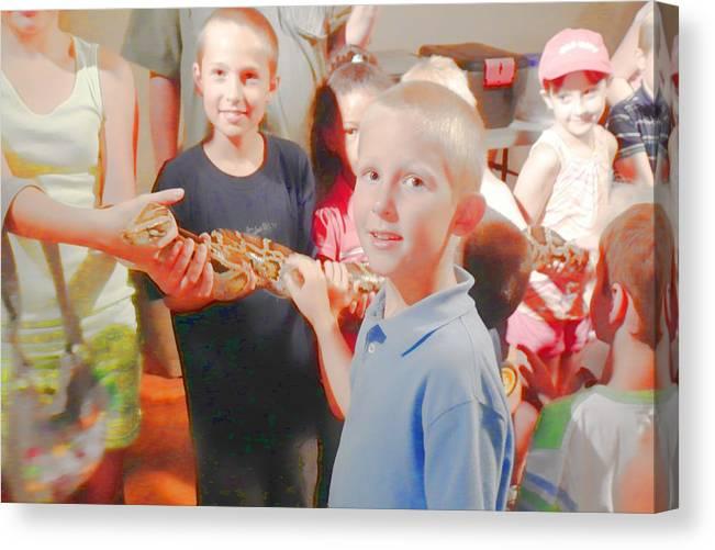 Snake Canvas Print featuring the digital art 'the Snake 2' by Robert Rhoads