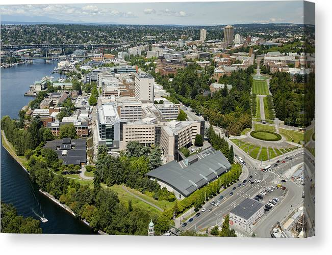 America Canvas Print featuring the photograph University Of Washington Medical by Andrew Buchanan/SLP