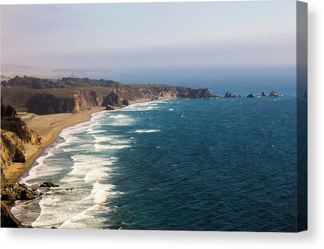 Hwy1 Canvas Print featuring the photograph Unknown Beach Off Hwy 1 by Chad Kanera