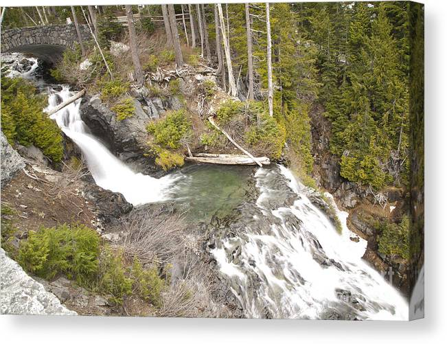 Waterfall Canvas Print featuring the photograph Water Fall 3 by Robert Talbot