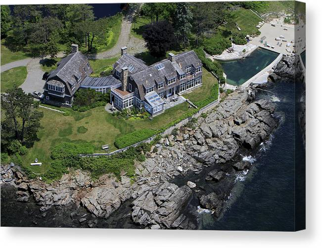 America Canvas Print featuring the photograph Waterfront Estate, Cape Elisabeth by Dave Cleaveland