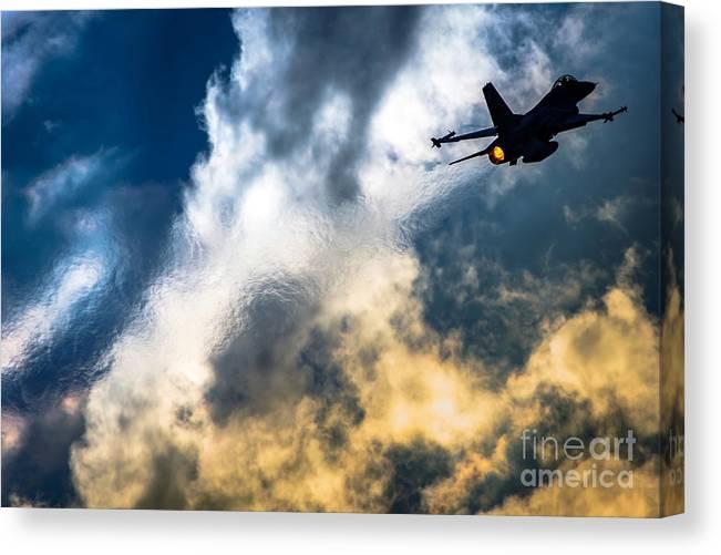 Israel Air Force F-16a Netz Canvas Print featuring the photograph Israel Air Force F-16a Netz by Nir Ben-Yosef