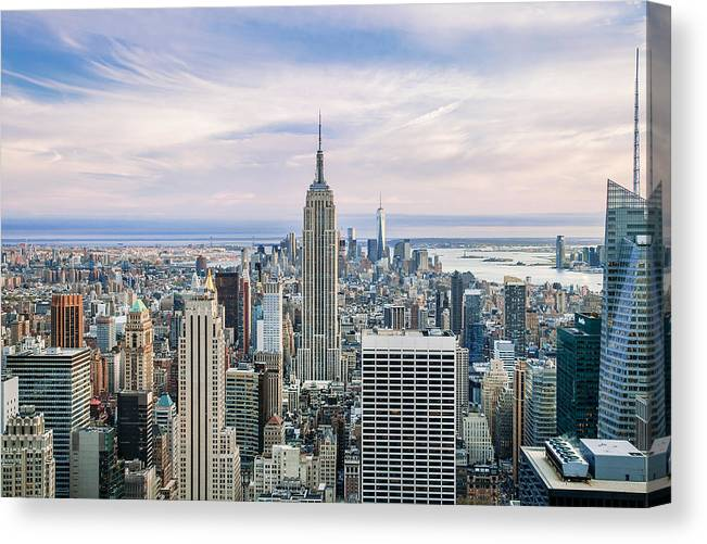 Empire State Building Canvas Print featuring the photograph Amazing Manhattan by Az Jackson