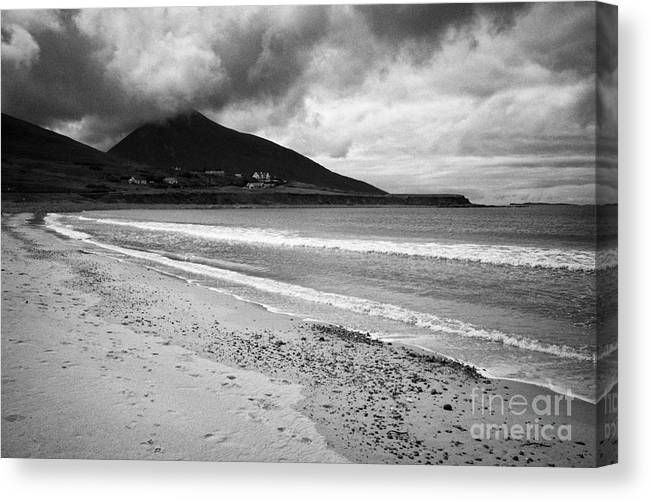 Wild Canvas Print featuring the photograph Barnynagappul Strand On The Wild Atlantic Way Coastal Route Doogort Achill Island County Mayo Irelan by Joe Fox
