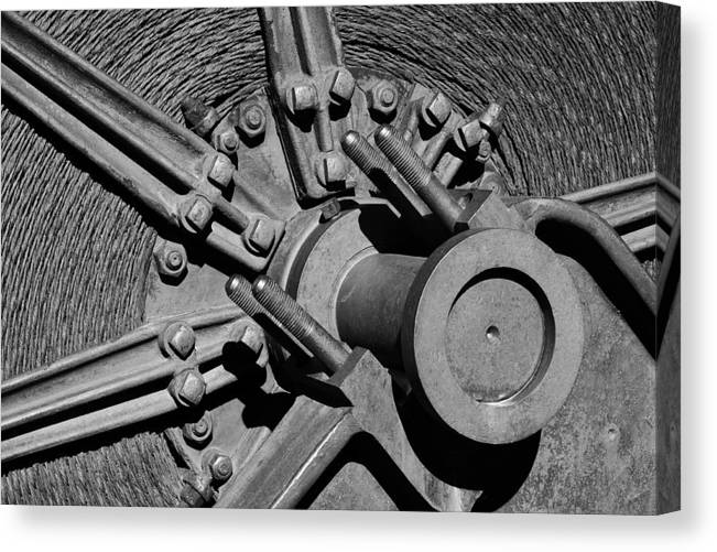 Mining Canvas Print featuring the photograph Bodie Mining Equipment by Troy Montemayor