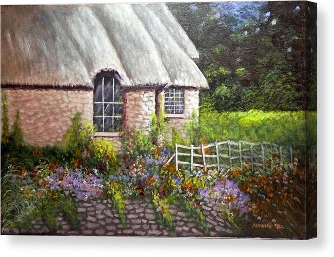 Landscape Canvas Print featuring the painting Ciotswold by Annette Tan