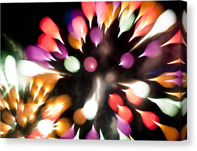 Fireworks Canvas Print featuring the photograph Colorful Explosion K878 by Yoshiki Nakamura