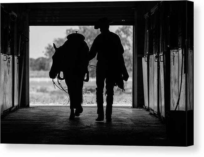 Spur Canvas Print featuring the photograph Dry Creek Stables by Charles Holloman