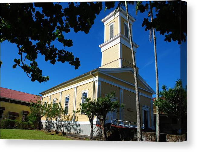 Christian Canvas Print featuring the photograph Haili Church - Hilo Hawaii by Steven Rice