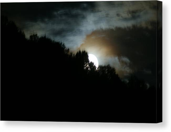 Moon Canvas Print featuring the photograph Night Moon by Terry Hoss