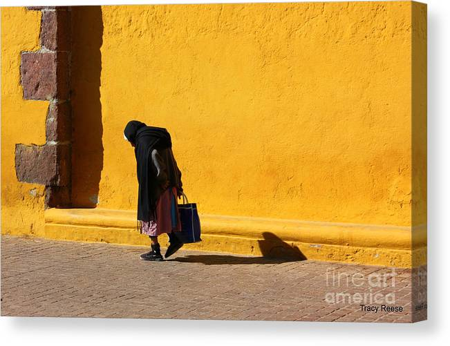 Bright Canvas Print featuring the photograph Old Woman One by Tracy Reese