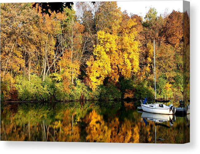 Nature Canvas Print featuring the photograph Peaceful Reflections by Bruce Bley