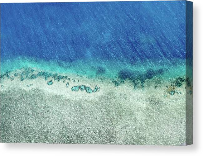 Australia Canvas Print featuring the photograph Reef Barrier by Az Jackson