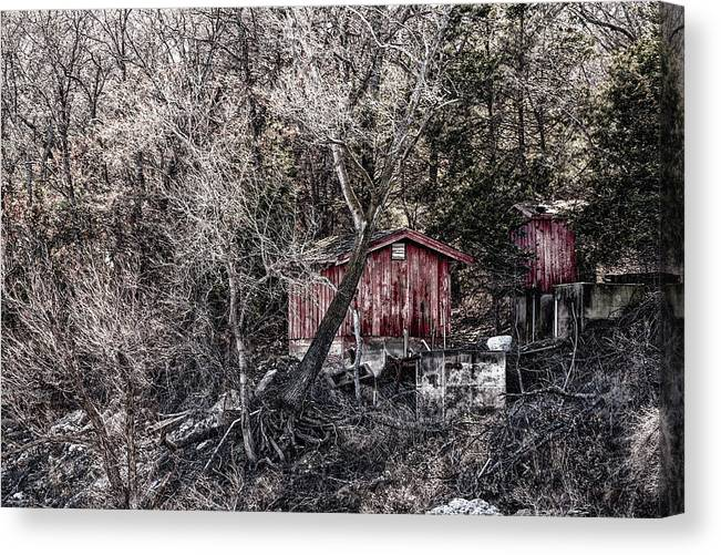 Texas Canvas Print featuring the photograph Shoreline Sheds by Erich Grant
