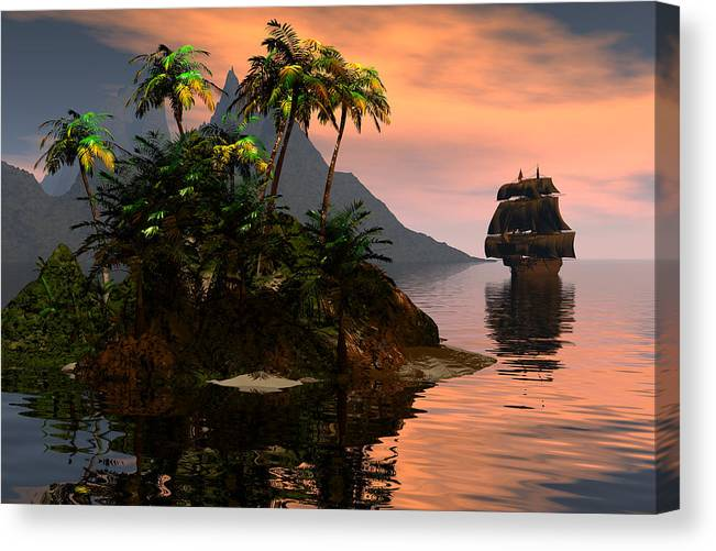 Bryce Canvas Print featuring the digital art Sunset In Paradise by Claude McCoy