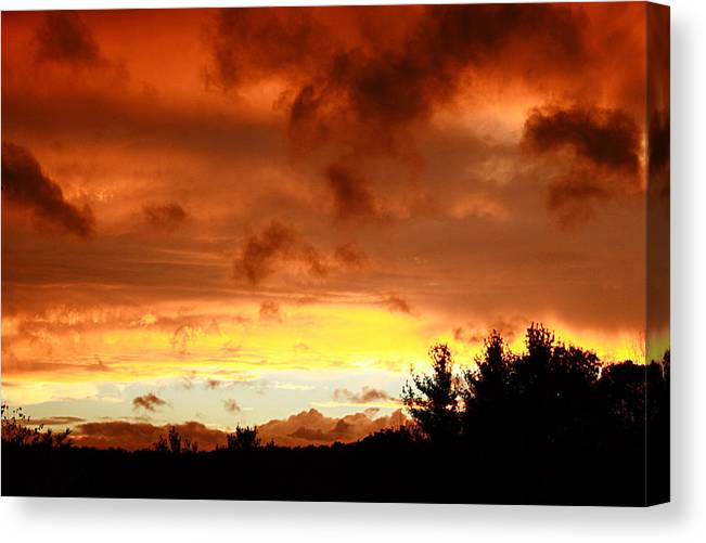 Sunset Canvas Print featuring the photograph The Red Planet by Carol Hicks