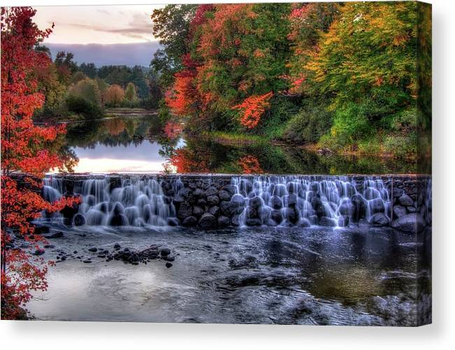 Contoocook River Canvas Print featuring the photograph Contoocook River Reservoir by Joann Vitali