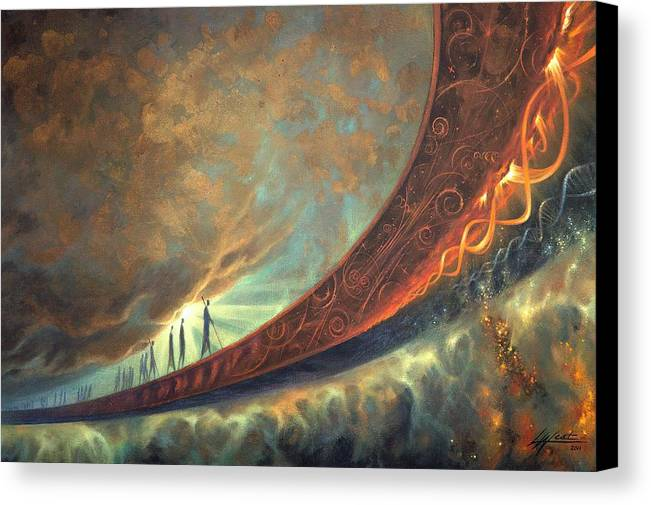 Humanity Canvas Print featuring the painting Origins by Lucy West