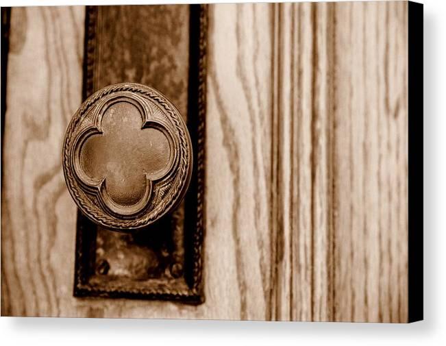 Doorknob Canvas Print featuring the photograph Antique Doorknob by Caroline Clark
