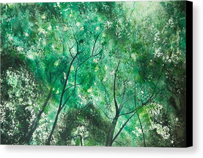 Trees Canvas Print featuring the painting Divine Light by Aymeric NOA