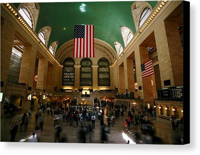Grand Central Station Canvas Print featuring the photograph Grand Central Station by Caroline Clark