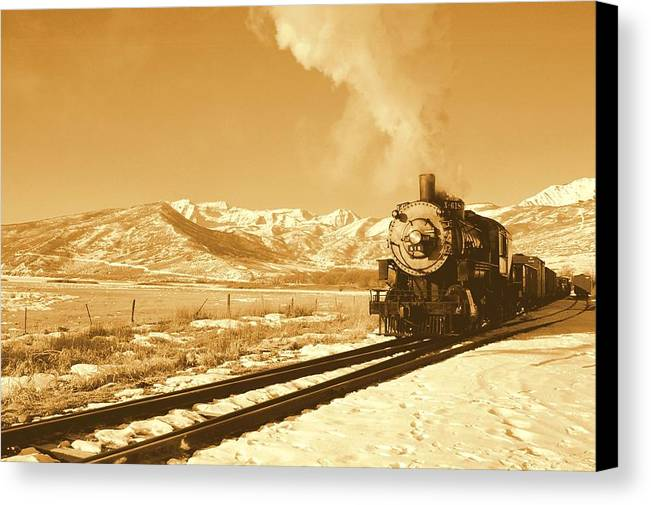 Train Canvas Print featuring the photograph The Heber Creeper by Caroline Clark