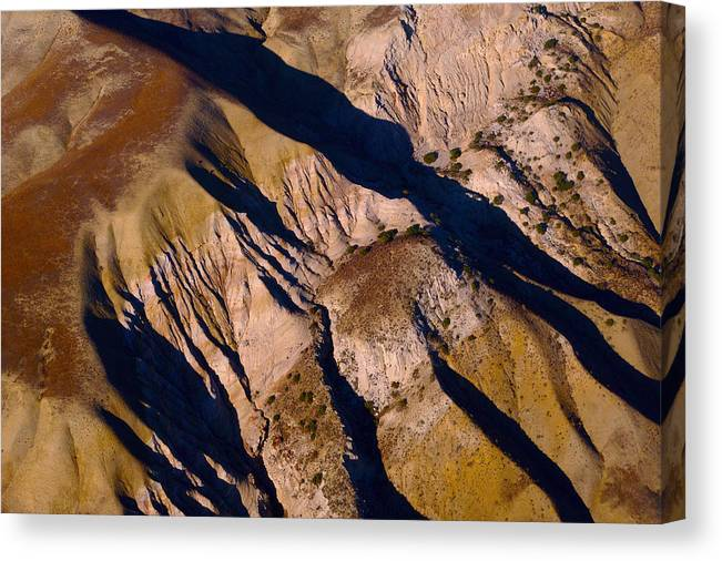 Aerial Photography Canvas Print featuring the photograph Shadows 1 by Sylvan Adams