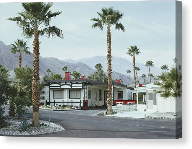 Suburb Canvas Print featuring the photograph Capotes House by Slim Aarons