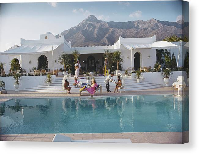People Canvas Print featuring the photograph El Venero by Slim Aarons