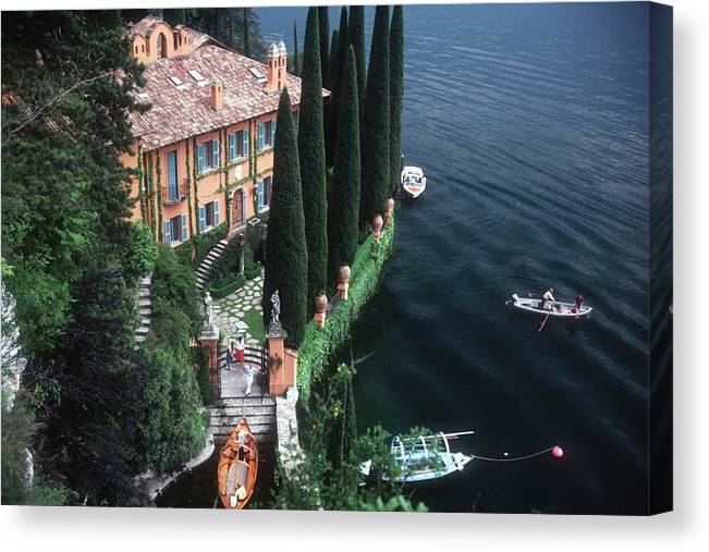 1980-1989 Canvas Print featuring the photograph Giacomo Montegazza by Slim Aarons