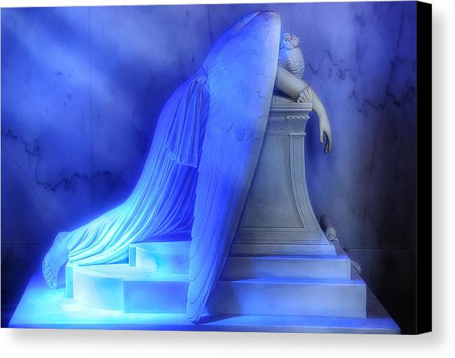 New Orleans Canvas Print featuring the photograph Weeping Angel by Don Lovett
