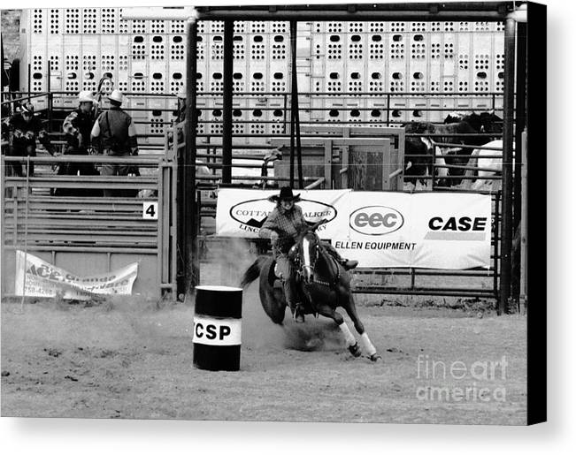 Rodeo Canvas Print featuring the photograph Barrel Racer by Susan Chandler